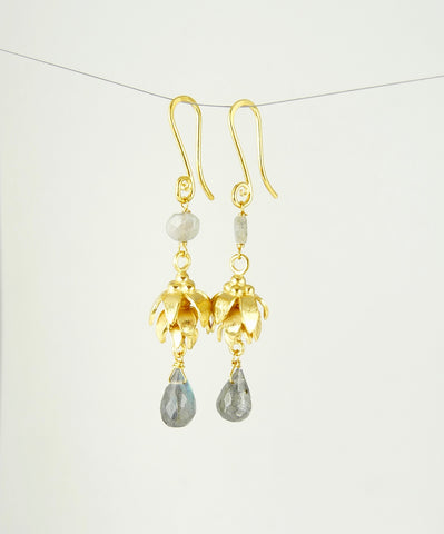 Anoop Labradorite Earrings