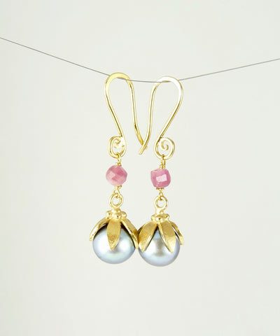 Anaïs Pearl & Tourmaline Earrings