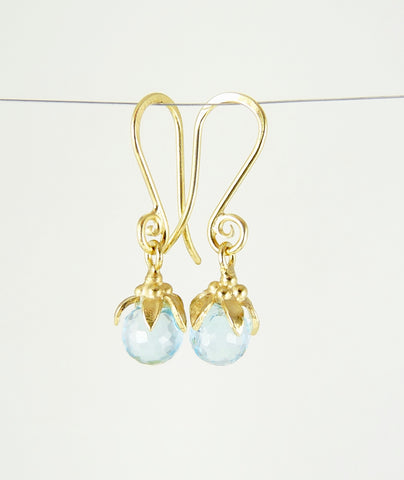 Anaïs Sky Blue Topaz Earrings