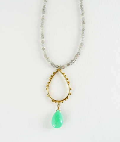 Labradorite Granulation necklace