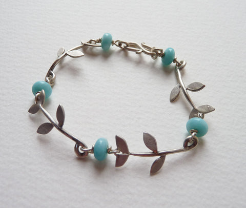 Tabatha Leaf and Amazonite bracelet