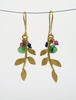Blossoming, branch, jewellery, jewelry, earrings, hook, hooks, sterling, silver, 18ct, gold, nature, natural, amethyst, black, spinel, chrysoprase, green onyx, labradorite, pearl, rhodolite, garnet