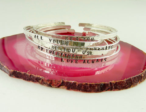 Bangle With Personalised Message