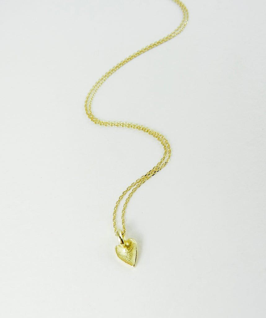 Delicate 18ct Gold Love Heart Necklace