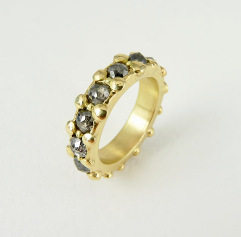Salt and Pepper Diamond Eternity Ring