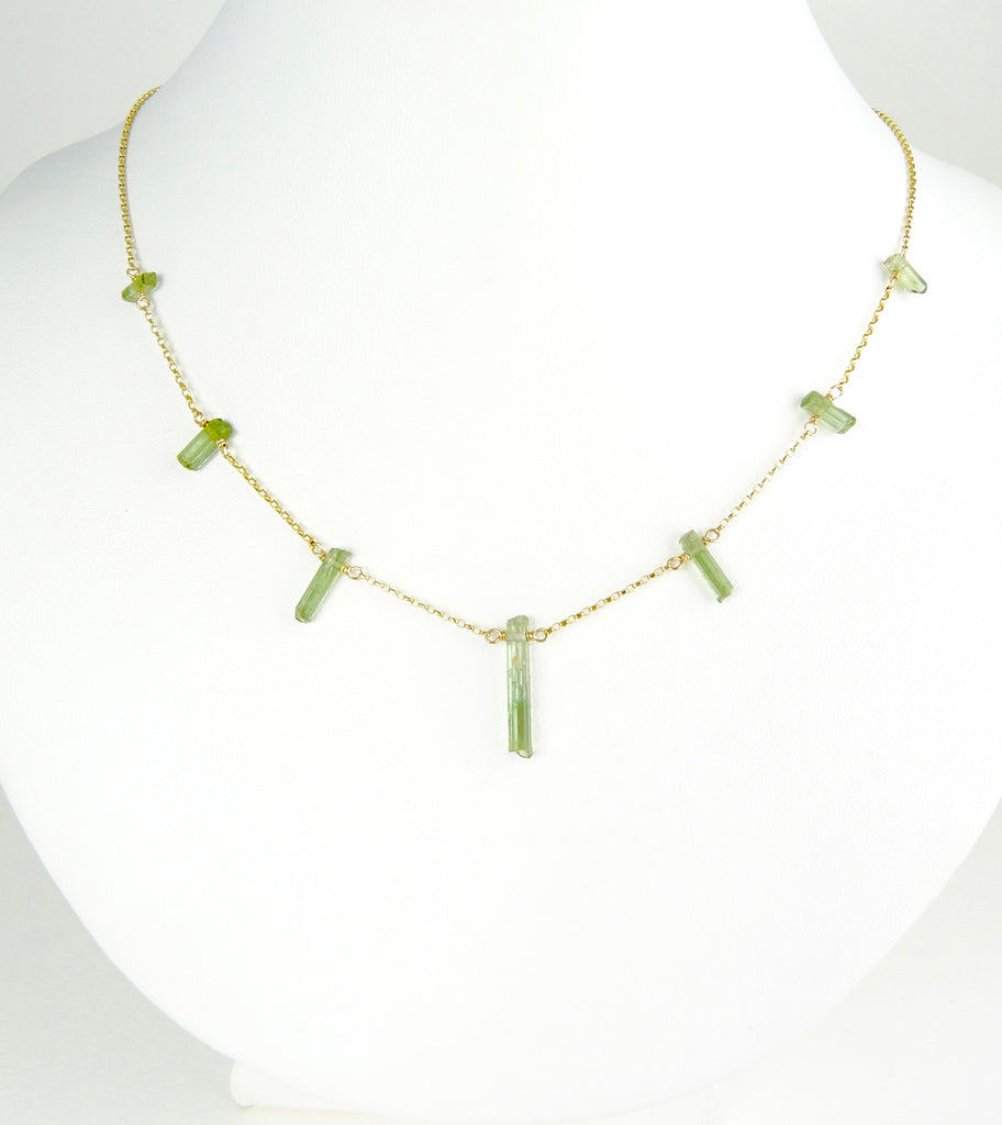 Green Tourmaline Sunshine Necklace