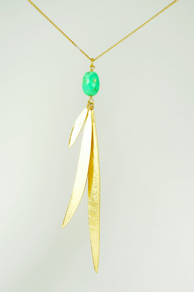 Lily Long Leaf necklace