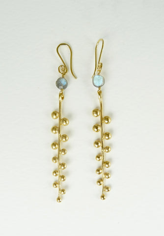 Pippa Earrings with Labradorite