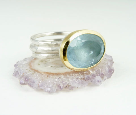 Ice Blue Aquamarine Ring