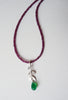 blossoming, branch, sterling, silver, necklace, handmade, jewellery, jewelry, leaf, leaves, garnet, green, onyx, nature, natural