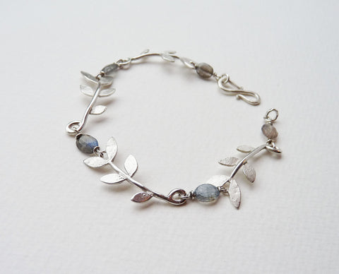 Sally Leaf and Labradorite bracelet