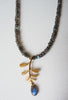 blossoming, branch, sterling, silver, necklace, handmade, jewellery, jewelry, leaf, leaves, labradorite, 18ct, gold, plate, nature, natural