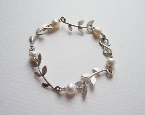 Sally Leaf and Fresh Water Pearl bracelet