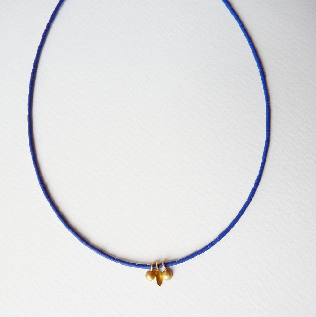 blossoming, branch, sterling, silver, necklace, handmade, jewellery, jewelry, lapis, lazuli, 18ct, gold, plate, delicate
