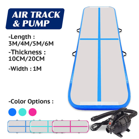 Gym Plus Multiple Sizes Inflatable Air Track Mat Tumbling Floor Home Gymnastics Mat with Electric Pump