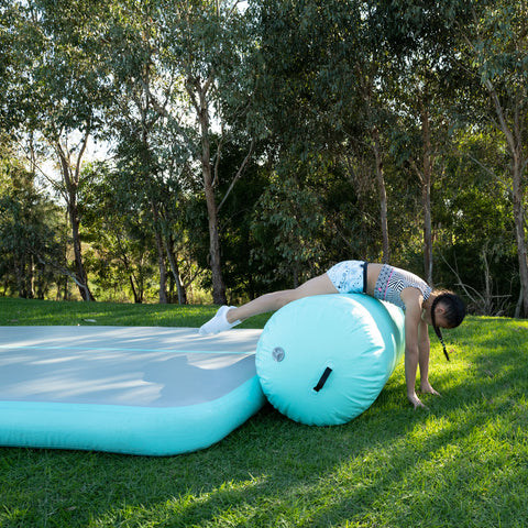 Gym Plus Air Barrel Inflatable Roller – Multiple Sizes (Mint)