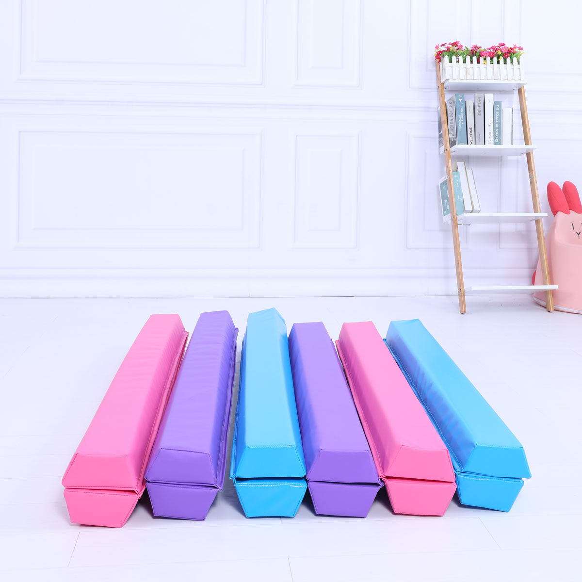 Starter Folding Gymnastics Balance Beam Practice Safe Balance Beam for Kids 240cm/270cm