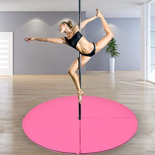 160cm Foldable Pole Dancing Mat Crash Folding Stripper Safety Mat with Handle