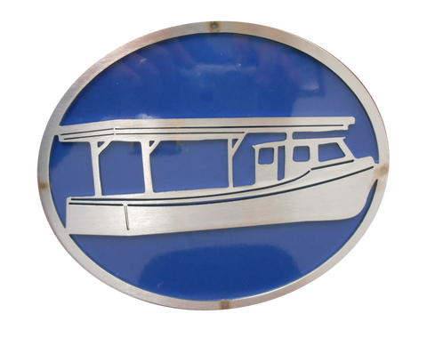 Boat w/Blue Hitch Cover