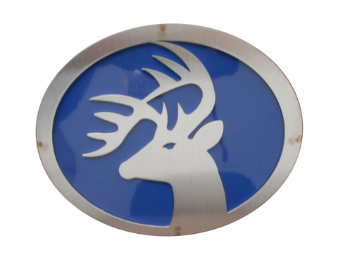 Buck w/Blue Hitch Cover