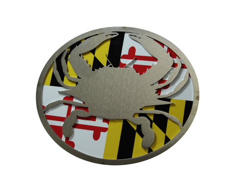 Crab w/Maryland Flag Hitch Cover