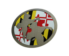 Geese w/Maryland Flag Hitch Cover
