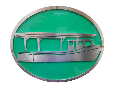 Boat w/Green Hitch Cover