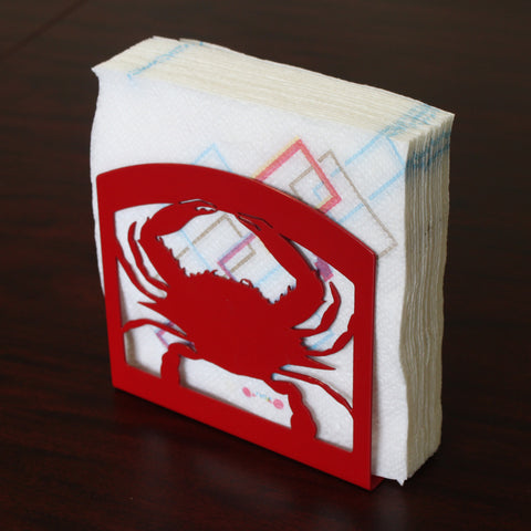 Made in USA Crab Themed Steel Napkin Holder