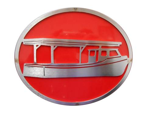 Boat w/Red Hitch Cover