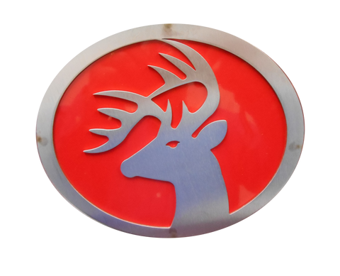 Buck w/Red Hitch Cover