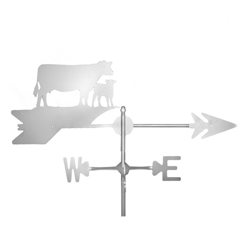 Stainless Steel Cow Weathervane