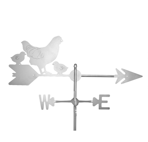 Stainless Steel Hen Chicks Weathervane