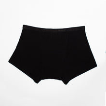 Load image into Gallery viewer, Modibodi Classic Boyshort Black Heavy-Overnight Flatlay