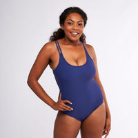 Modibodi Swimwear One Piece Navy Light-Moderate |ModelName:Cassaera M/12