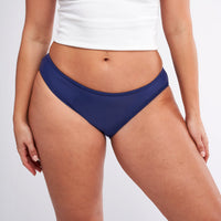 Modibodi Swimwear Bikini Brief Navy Light-Moderate |ModelName:Jessica L/14