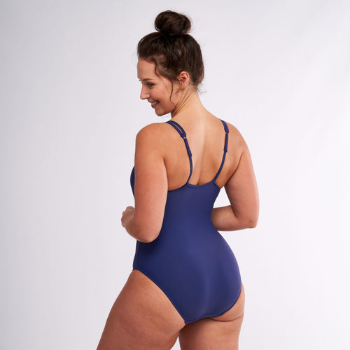 Modibodi Swimwear One Piece Navy Light-Moderate |ModelName:Jessica L/14
