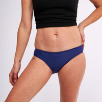Modibodi Swimwear Bikini Brief Navy Light-Moderate |ModelName:Lauren S/10