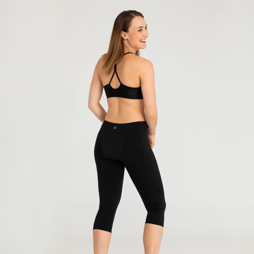 Modibodi Active 3/4 Leggings Black Light-Moderate |ModelName:Tiffany S/10