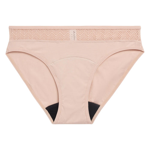 Modibodi Sensual Bikini Beige Light-Moderate Flatlay