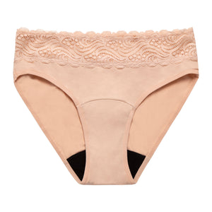 Modibodi Sensual High Waist Bikini Beige Light Moderate Flatlay