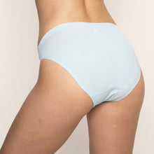 Load image into Gallery viewer, Modibodi Seamfree Bikini Sky Blue Moderate-Heavy