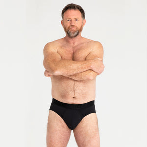 MO by Modibodi Mens Brief Black Light-Moderate