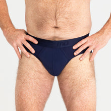 Load image into Gallery viewer, MO by Modibodi Mens Brief Navy Light-Moderate