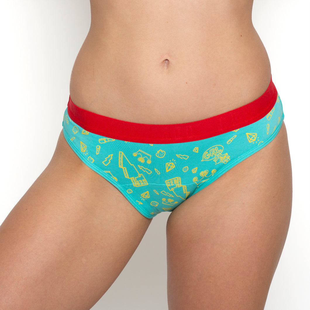 Teen Period Underwear - RED Modibodi Hipster Bikini