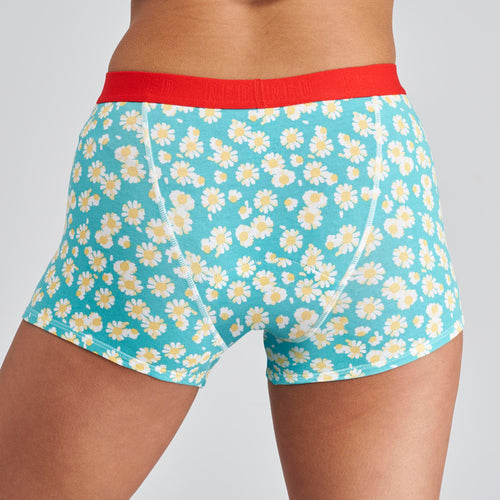 Modibodi RED Hipster Boyshort Daisy Chain Moderate-Heavy |ModelName:Alison Youth 14-16