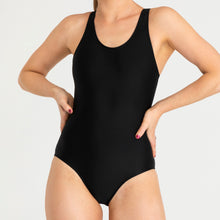 Load image into Gallery viewer, RED by Modibodi Swimwear Racerback One Piece Black Light-Moderate