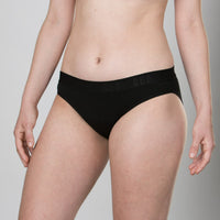 Teen Period Underwear - RED Modibodi Hipster Bikini - Black