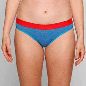Teen Period Underwear - RED Modibodi Hipster Bikini - Love Heart