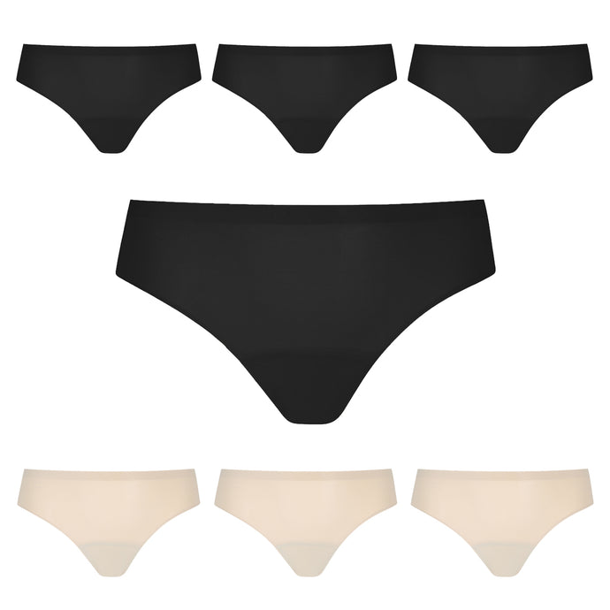 Modibodi Seamfree Bikini 7 Pack Moderate-Heavy Flatlay