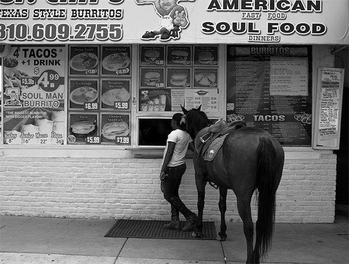 Melodie McDaniel - Riding Through Compton (Adrina at Sr. Cliff's Texan-style burritos), 2017